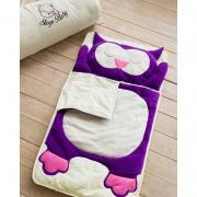 Хлопковый спальный плед-конверт Сова детский (размеры от 120 до