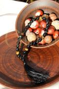 Rosary of black agate and tiger's eye